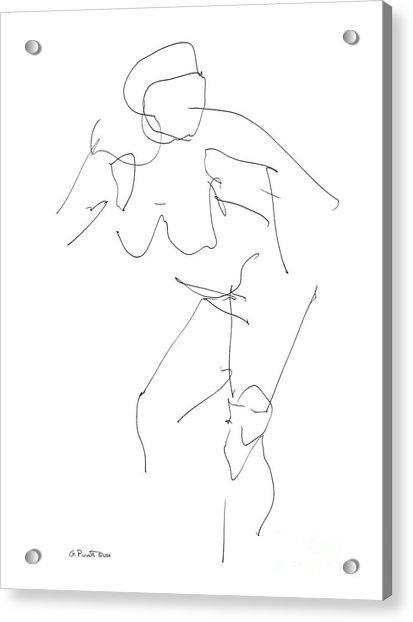 Nude Female Drawings 14 Acrylic Print