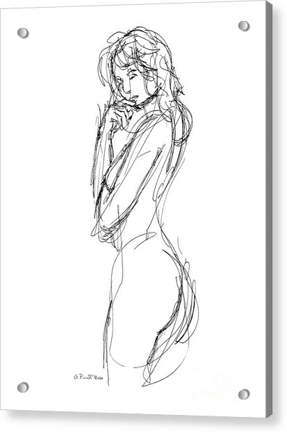 Nude Female Sketches 1 Acrylic Print