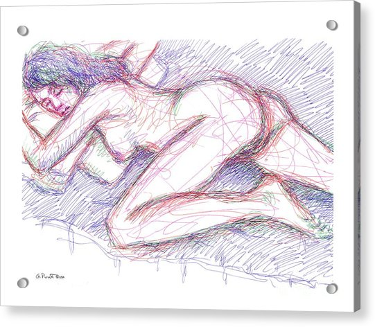 Nude Female Sketches 5 Acrylic Print