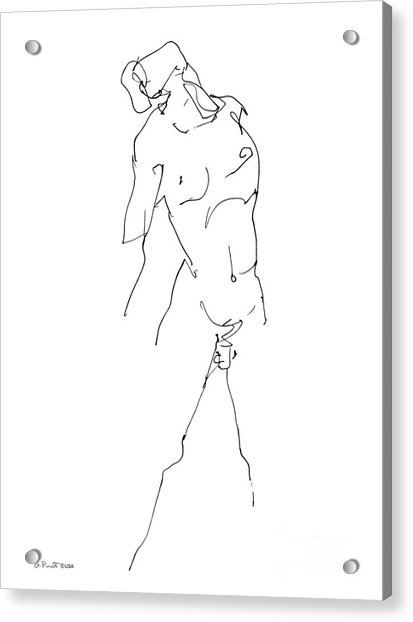 Nude-male-drawing-11 Acrylic Print