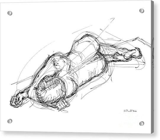 Nude Male Sketches 4 Acrylic Print