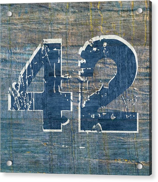 Number 42 Acrylic Print
