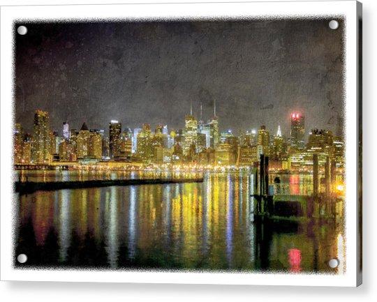 Nyc At Night Acrylic Print