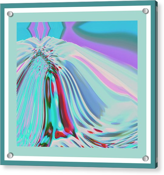 Acrylic Print featuring the digital art Ocean Deco - Ticker Symbol Jamn 7/5/2011 To 8/1/2011 by Stephen Coenen