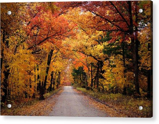 October Road Acrylic Print