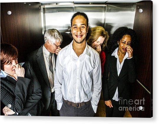 Odor In The Elevator Acrylic Print
