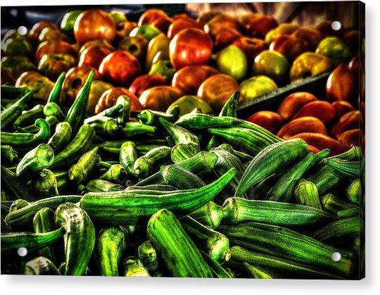 Okra And Tomatoes Acrylic Print
