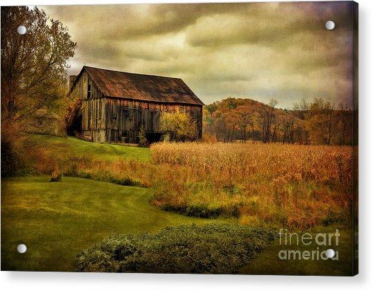 Old Barn In October Acrylic Print