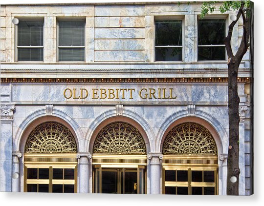 Acrylic Print featuring the photograph Old Ebbitt Grill by Jemmy Archer