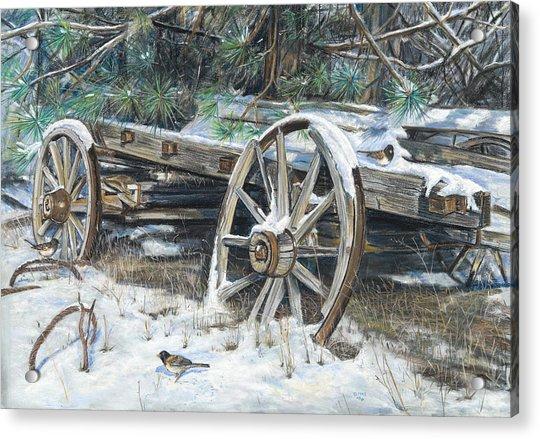 Old Farm Wagon Acrylic Print