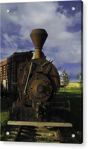 Old Prairie Train Acrylic Print