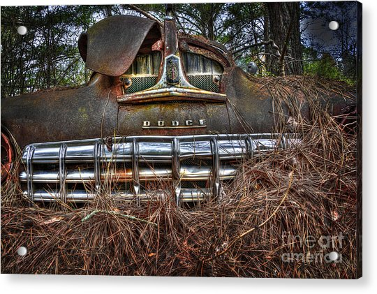 Old Rusty Dodge Acrylic Print