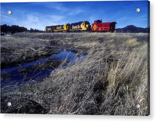 Acrylic Print featuring the photograph Old Sante Fe Waits In Williams Arizona by David Bailey