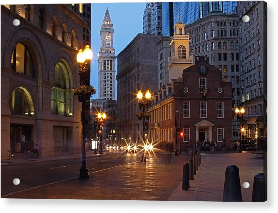 Old State House And Custom House In Boston Acrylic Print