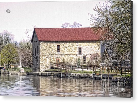 Old Stone House On The Canal Acrylic Print