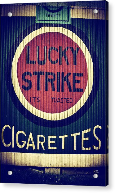 Old Time Cigarettes Acrylic Print