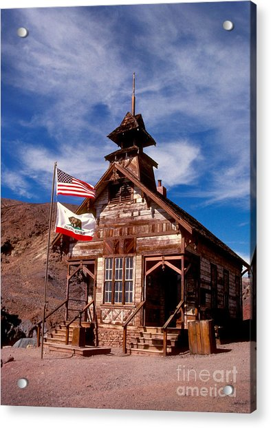 Old West School Days Acrylic Print