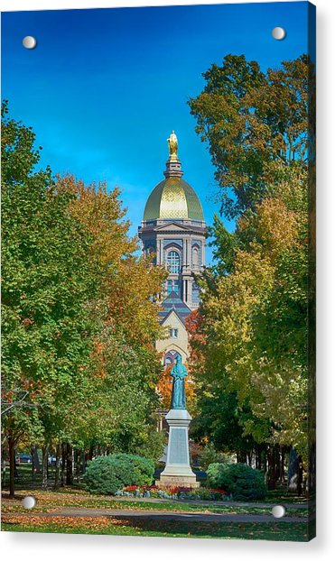 On The Campus Of The University Of Notre Dame Acrylic Print