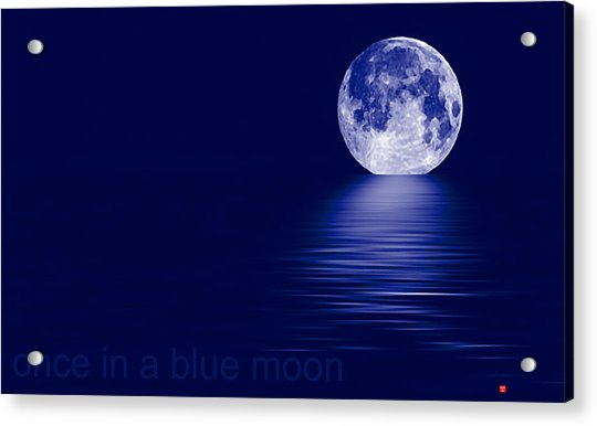 Once In A Blue Moon Acrylic Print