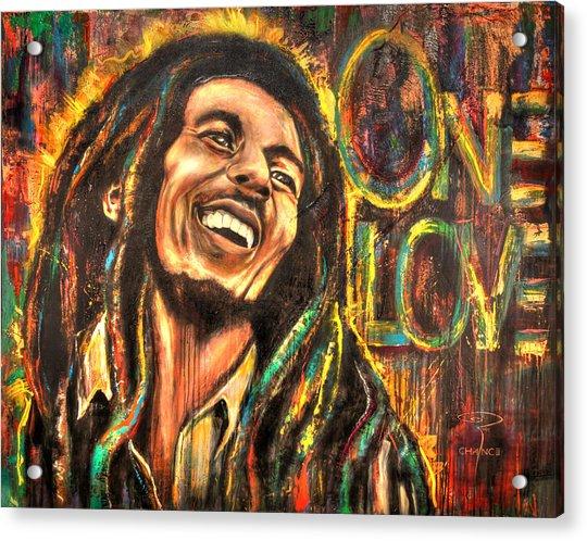 Bob Marley - One Love Acrylic Print