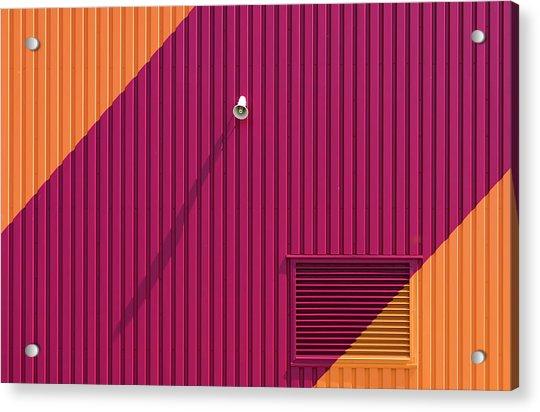 Orange Corners Acrylic Print