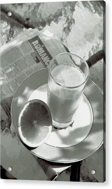 Orange Juice Romance Acrylic Print