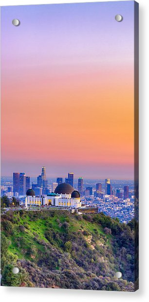 Orangesicle Griffith Observatory Acrylic Print