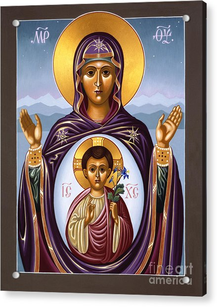 Our Lady Of The New Advent Gate Of Heaven 003 Acrylic Print
