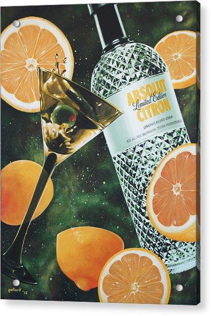 Outer Citron Acrylic Print