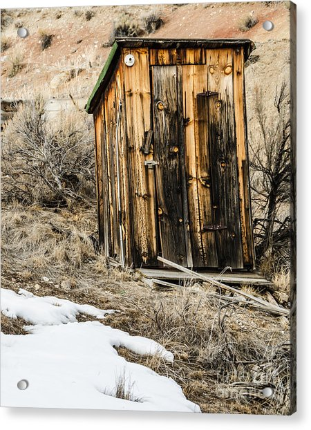 Outhouse With Electricity Acrylic Print