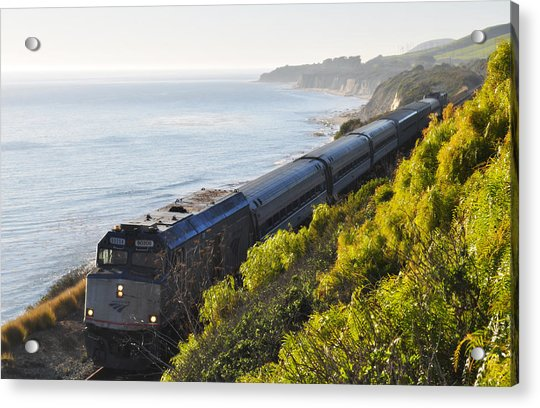 Pacific Surfliner Along The Central Coast Acrylic Print