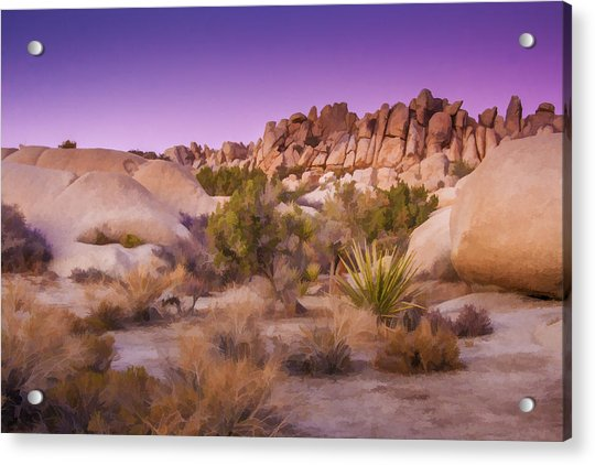 Painterly Desert Acrylic Print