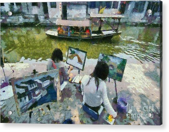 Painting In Xi Tang Acrylic Print