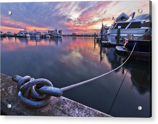 Palm Beach Harbor Acrylic Print