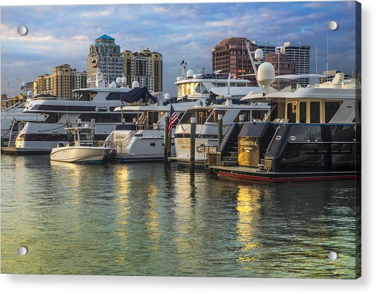 Palm Beach Marina Acrylic Print