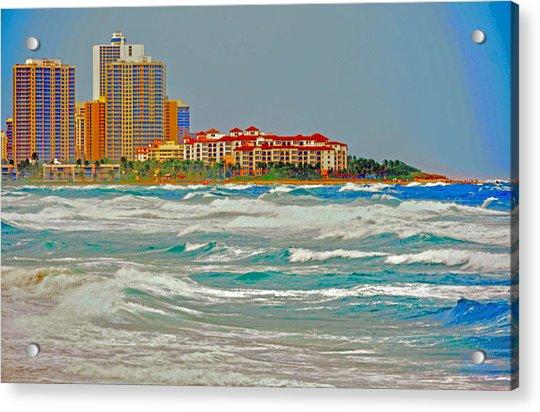 Palm Beach Post Card Acrylic Print