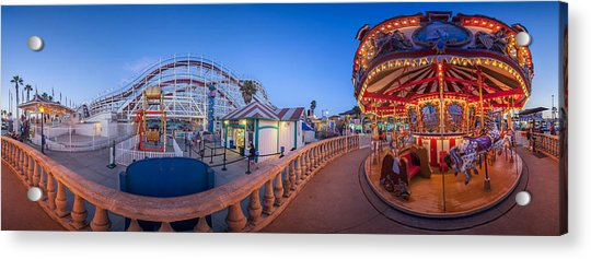Panorama Giant Dipper Goes 360 Round And Round Acrylic Print