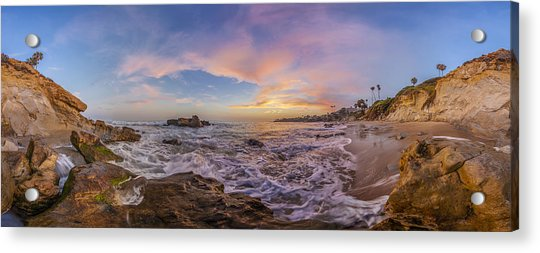 Panorama The Whole Way Round The Cove Acrylic Print