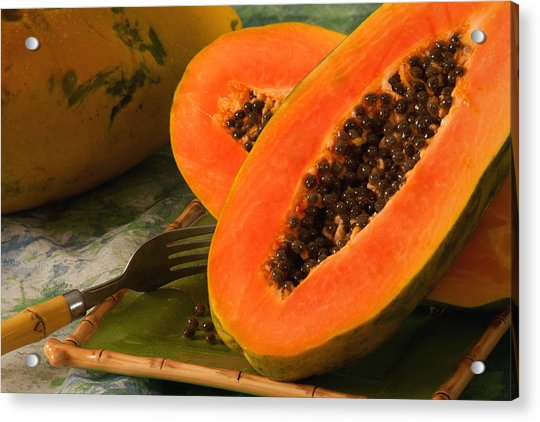 Papaya Acrylic Print