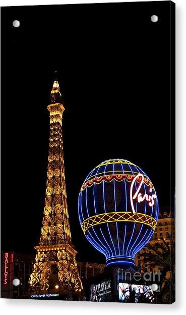 Paris In Vegas Acrylic Print
