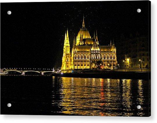 Parliament At Night Acrylic Print