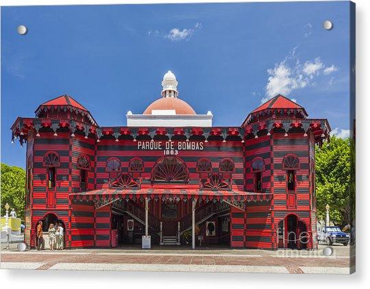 Parque De Bombas Fire Station In Ponce Puerto Rico Acrylic Print