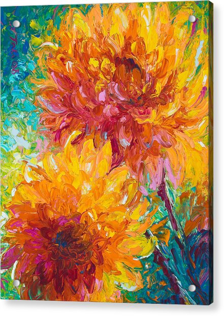 Acrylic Print featuring the painting Passion by Talya Johnson