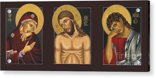 Passion Triptych Acrylic Print
