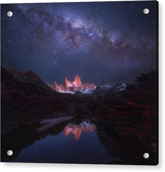 Patagonia Autumn Night Acrylic Print