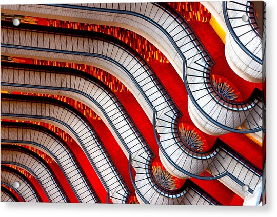 Patterns In Red Acrylic Print