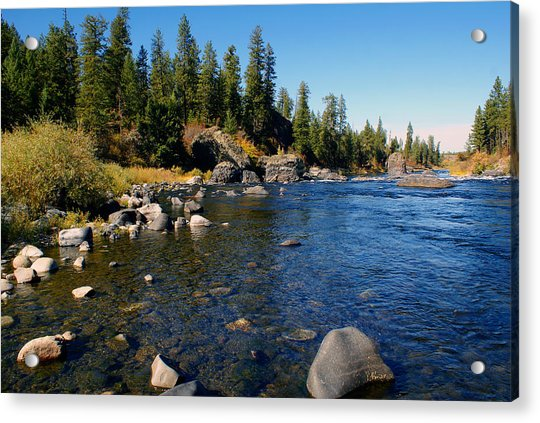Peace On The Spokane River 2 Acrylic Print