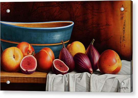 Peaches And Figs Acrylic Print