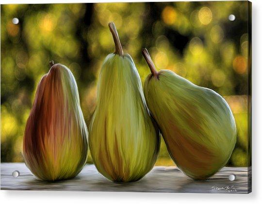 Pear Buddies Acrylic Print