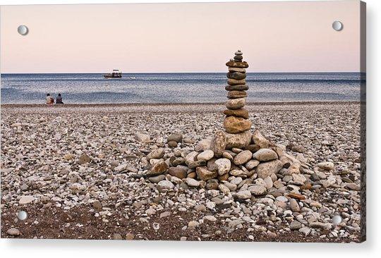 Pebble Tower Acrylic Print